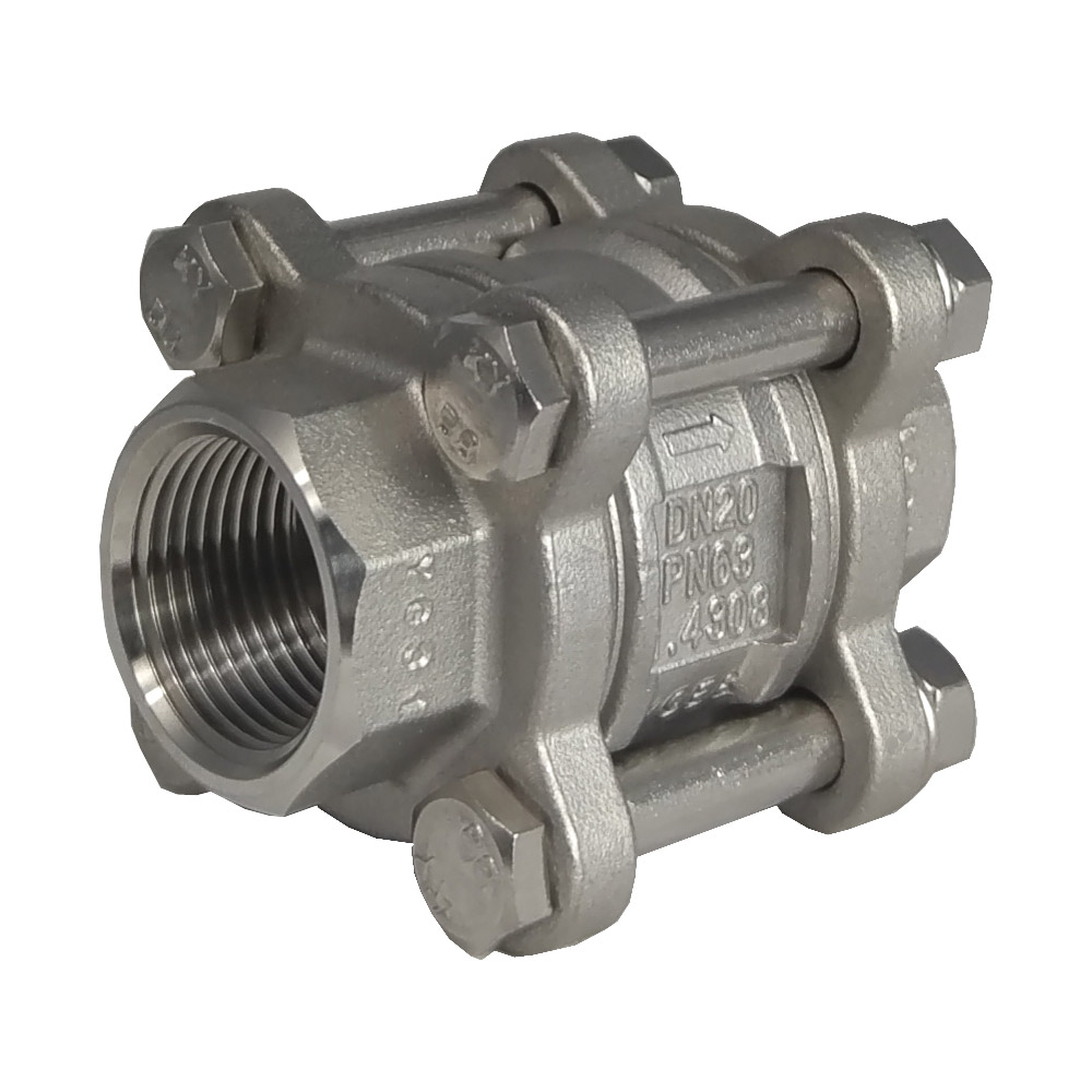 3 Piece Spring Return Check Valve  600psi