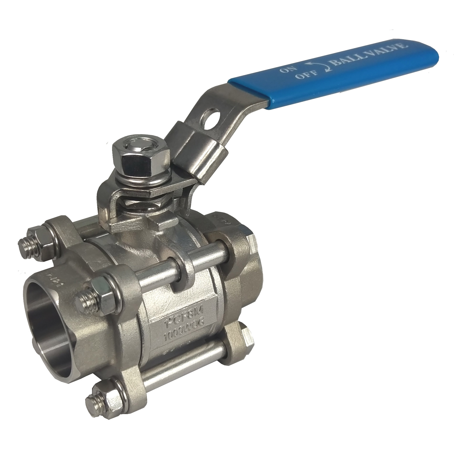 1/4-4 inch butt welding stainless steel carbon steel 3 piece ball valve 1000psi