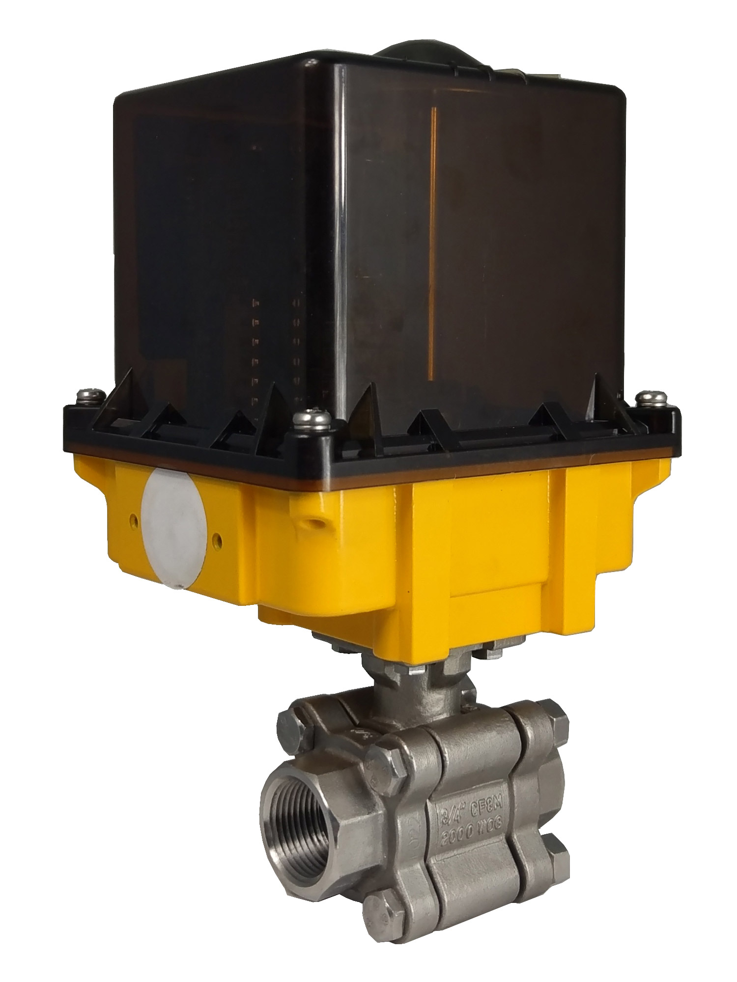 Electric Actuator With Screwed End Ball Valve