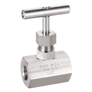 Needle Valve Female To Female End 6000 PSI