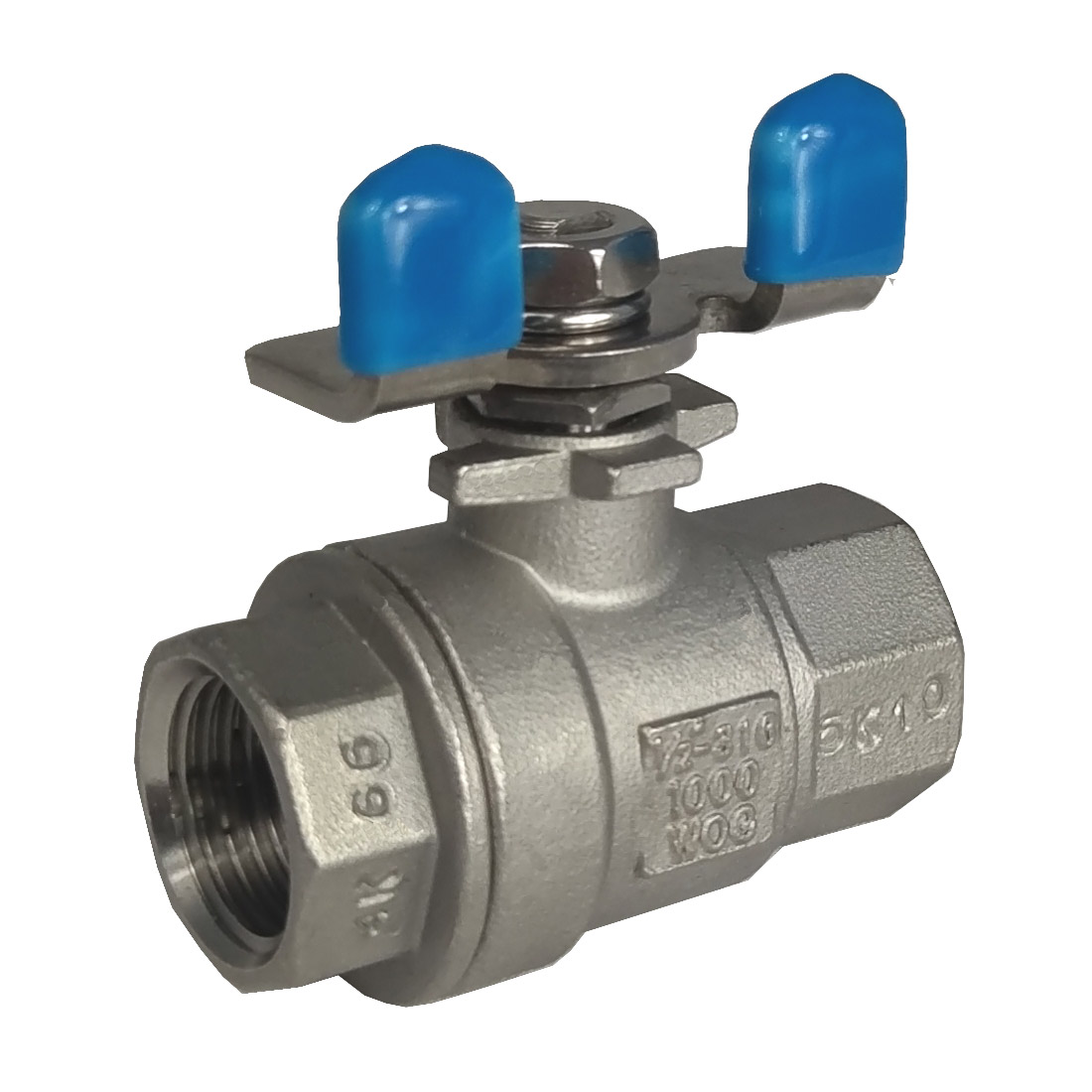 2-piece full port ball valve 1000 psi  butterfly handle